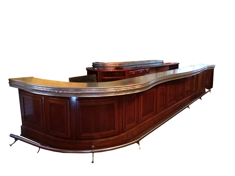Manhattan a beautiful bar antique salvaged restored wood bars