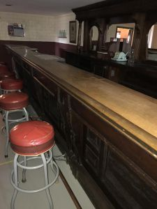 carved bar 20′ front and 12′ back Real Victorian hand-carved 19th Century