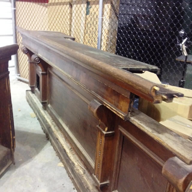 antique restored salvaged wooden bars