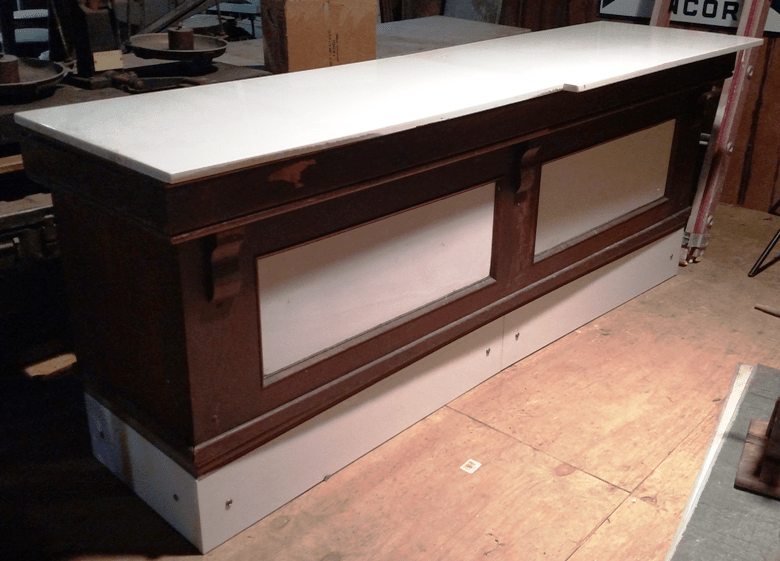 store counters a beautiful bar antique salvaged restored wood bars