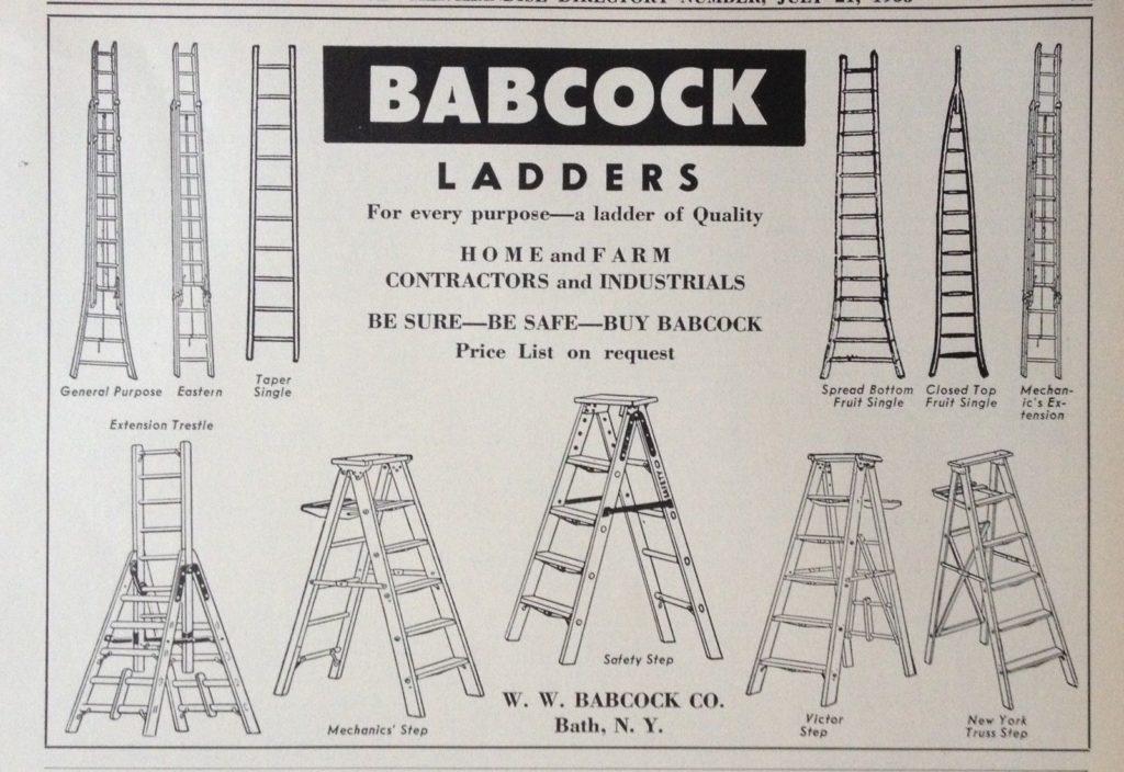 babcock wooden ladders