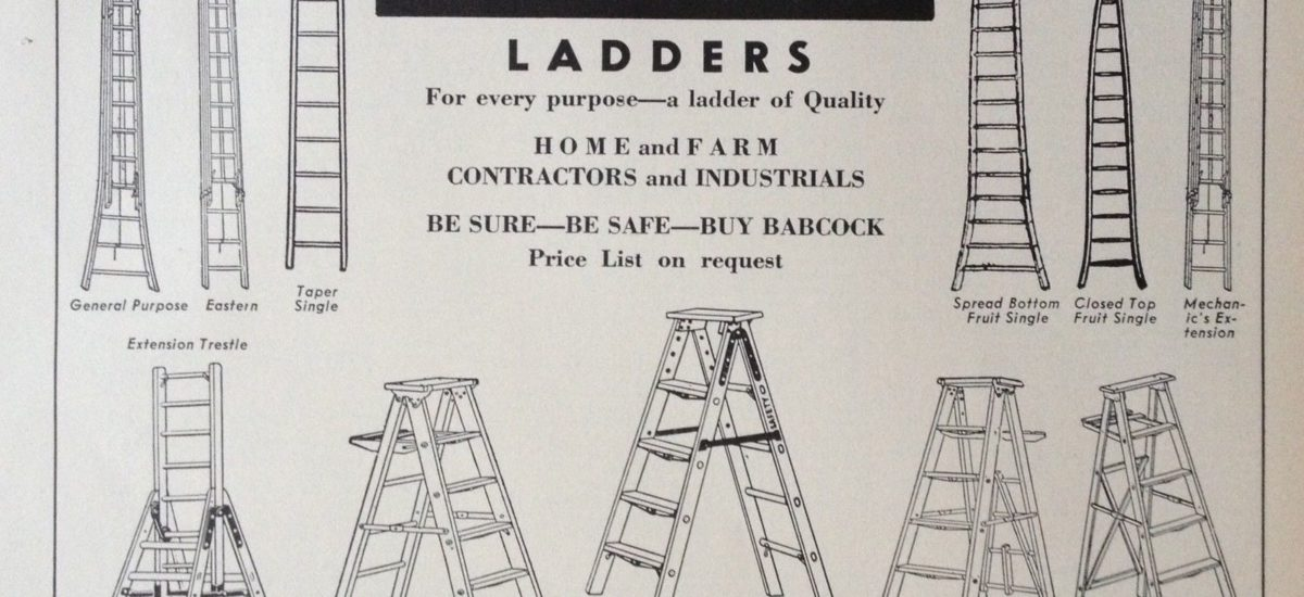 Babcock wooden sectional ladder