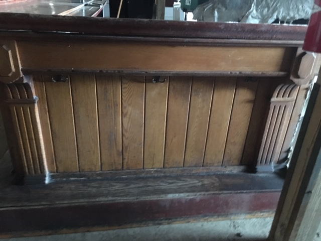 antique salvaged restored wood bars