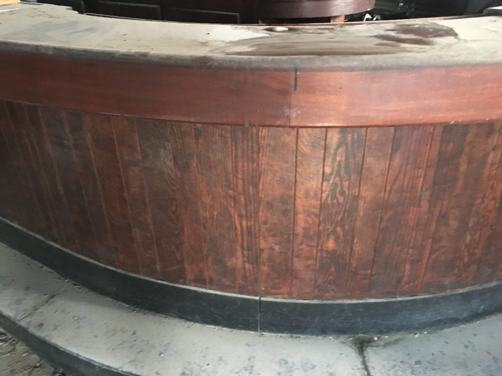 the oval bar antique oak salvaged restored mahogany